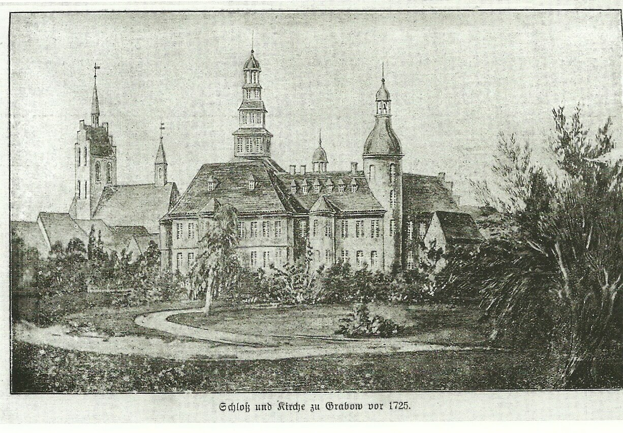 Schloss und Stadtkirche 1725